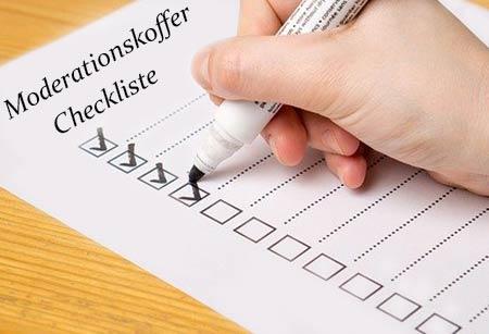 Checkliste für Moderationskoffer
