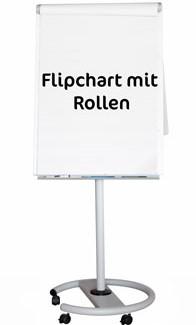 Flipchart mit rollbarem Fußgestell